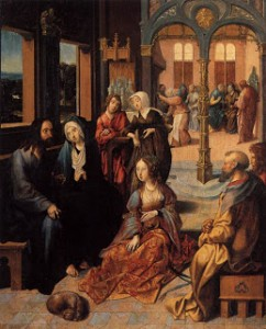 S_Martha_Mary Cornelis Engebrechtsz,  Christ in the House of Martha and Mary Rijksmuseum1515