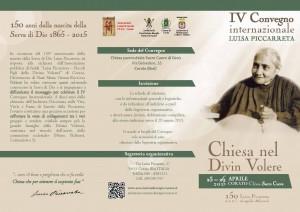 brochure 150 anni Luisa Piccarreta