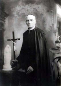 St Annibale with Luisas Cross and Statue of Mary and Jesus
